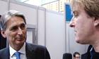 Transport secretary talks to John Harris at the Conservative conference