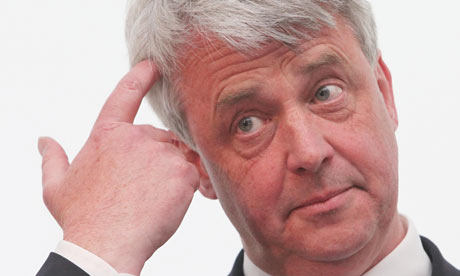 Shadow health secretary Andrew Lansley speaks at a hustings debate in London