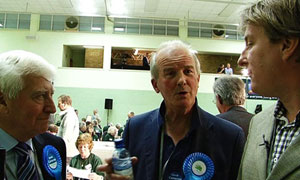 John Harris speaking to Conservative party activists in Witney, David Cameron&#39;s constituency