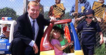 Charles Kennedy campaigning, May 29