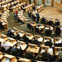 First session of the Holyrood parliament. Copyright: Scottish parliament