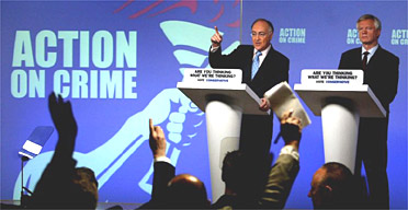 19.04.05: Tory leader Michael Howard at this morning's press conference