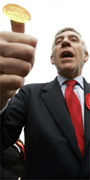 Jack Straw out campaigning