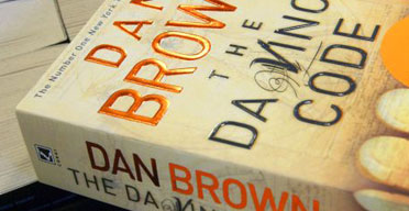 A copy of The Da Vinci Code by Dan Brown in Waterstone's bookshop, Oxford Street, London, April 20 2005