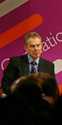 "Tony Blair prepares to take questions after delivering a speech on ""integration and multiculturalism"" at 10 Downing Street on December 8 2006. Photograph: Chris Young/AFP/Getty Images."
