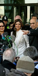 Celebrity Big Brother star Shilpa Shetty with Keith Vaz MP outside parliamentary offices in Westminster on February 7 2007. Photograph: Chris Young/AFP/Getty Images.