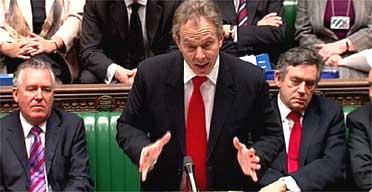 Tony Blair at prime minister's questions