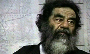 Saddam Hussein. Photograph: US Department of Defense/AP.