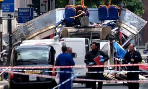July 7 2005, 7/7 suicide bombings. Photograph: Max Nash/AP.