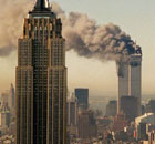 The attack on New York on September 11 2001, 9/11. Photograph: Marty Lederhandler/AP.