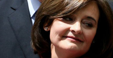 Cherie Blair on the day her husband resigned as prime minister on June 27 2007. Photograph: Gareth Fuller/PA Wire.