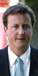David Cameron at Darwen police station in Lancashire on August 22 2007. Photograph: Peter Byrne/PA Wire.