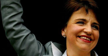 Wendy Alexander after being confirmed as the new leader of the Scottish Labour party on August 21 2007. Photograph: Jeff J Mitchell/Getty Images.