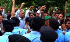 Sharif supporters clash with police