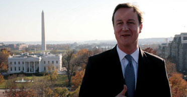 David Cameron in Washington, DC, on November 29 2007. Photograph: Andrew Parsons/PA