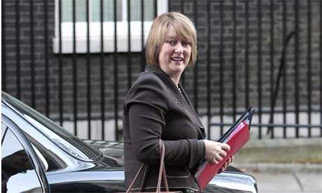 The home secretary, Jacqui Smith