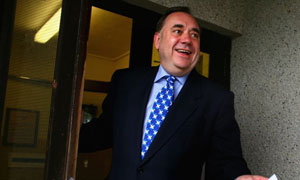 Alex Salmond, the leader of the SNP, in Strichen, Scotland, on May 3 2007. Photograph: Jeff J Mitchell/Getty Images
