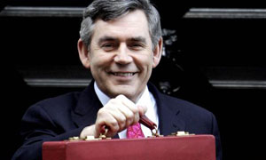 Gordon Brown leaves 11 Downing Street to deliver his budget speech on March 21 2007. Photograph: Andrew Parsons/PA