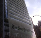 The New York Times building in New York. Photograph: Paul Owen