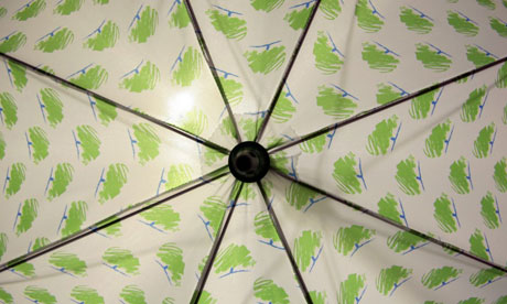 An umbrella displaying the Conservative logo at the party's conference in Bournemouth in 2006. Photograph: Martin Argles