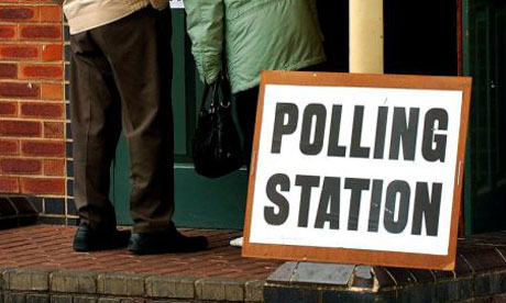 A polling station in Derbyshire in 2007. Photograph: Rui Vieira/PA