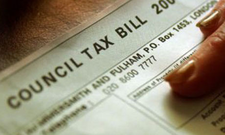 A council tax bill. Photograph: Chris Young/PA