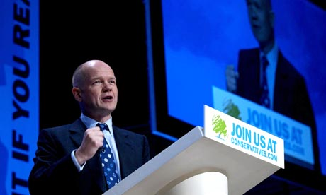 William Hague speaks at the Tory spring conference