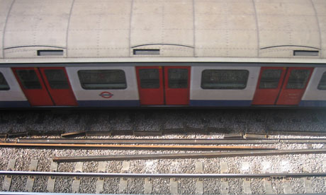 A tube train in London. Photograph: Paul Owen