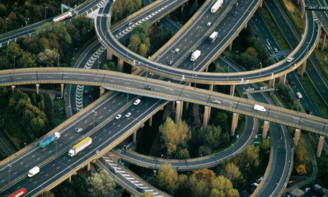 Spaghetti Junction in Birmingham. Photograph: Jason Hawkes/Getty Images