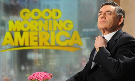Gordon Brown on the set of Good Morning America in New York on April 16 2008. Photograph: Stefan Rousseau/PA Wire
