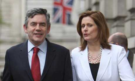 Gordon Brown and his wife, Sarah