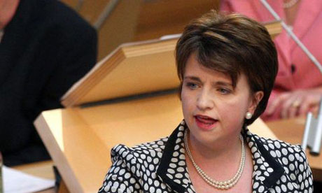 Wendy Alexander speaking in the Scottish parliament on May 2008. Photograph: David Cheskin/PA Wire