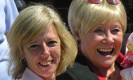 Tamsin Dunwoody with Liz Dawn, who played Vera Duckworth in Coronation Street. Photograph: Tim Prevett