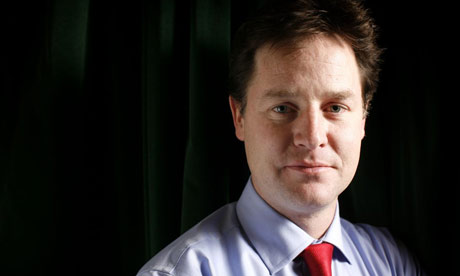 Nick Clegg MP, leader of the Liberal Democrats party
