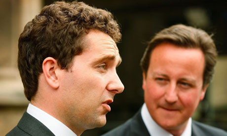 Edward Timpson, the new Conservative MP, arrives at the House of Commons with David Cameron, the Tory leader, on May 22 2008. Photograph: Peter Macdiarmid/Getty Images