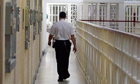 A prison guard inside a prison. Photograph: Gareth Copley/PA Wire