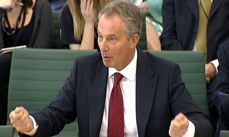 Tony Blair addressing the Commons international development select committee today. Photograph: PA Wire