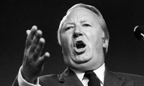 Edward Heath, the prime minister, in 1971. Photograph: PA