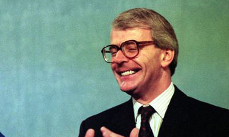 John Major, the prime minister, in 1991. Photograph: Croft/PA