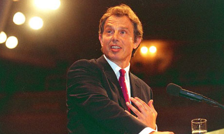 Tony Blair in 1998. Photograph: Martin Argles