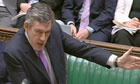 Gordon Brown at prime minister's question on June 11 2008. Photograph: PA Wire
