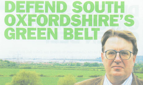 A leaflet issued by John Howell, Conservative candidate for Henley, promising to defend the green belt