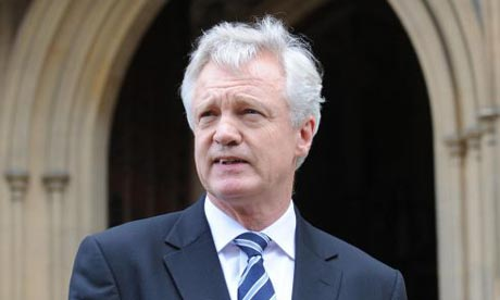 David Davis announces his decision to resign as an MP outside the Houses of Parliament