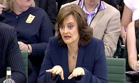 Cherie Booth giving evidence to the Commons home affairs select committee on July 1 2008. Photograph: PA Wire