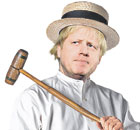Boris Johnson as a PG Wodehouse character. Illustration: Steve Caplin