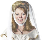 Ruth Kelly as the nurse from Romeo and Juliet. Illustration: Steve Caplin