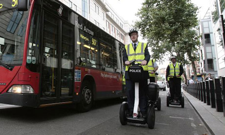 Lembit Öpik MP rides a Segway on September 9 2008. Photograph: Carl Court/PA Wire