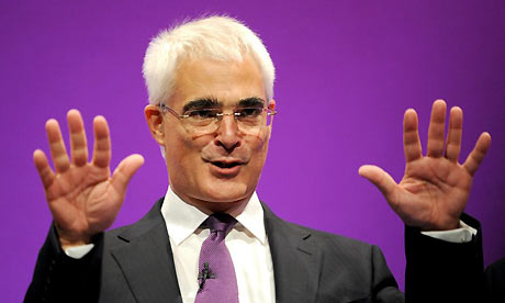 Alistair Darling addresses the Labour Party conference