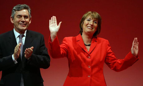 Gordon Brown and Harriet Harman at the Labour conference in Manchester on September 24 2008. Photograph: Christopher Furlong/Getty Images