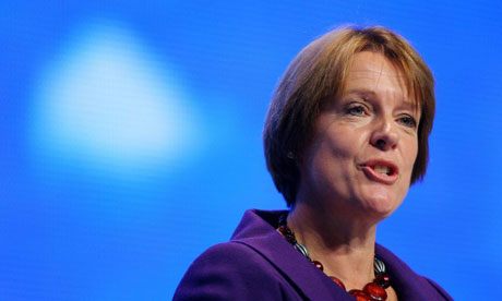 Caroline Spelman speaks at the Conservative conference in Birmingham on September 28 2008. Photograph: Carl de Souza/AFP/Getty Images